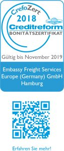 CrefoZert Weblogo_2018_Embassy Freight Services Europe (Germany) GmbH