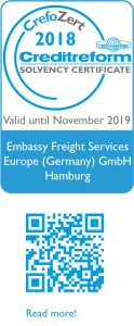Weblogo Creditreform_2018_englisch_Embassy Freight Services Europe Germany